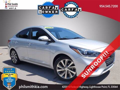 2019 Hyundai Accent for sale at PHIL SMITH AUTOMOTIVE GROUP - Phil Smith Kia in Lighthouse Point FL