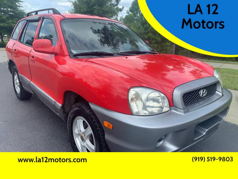 2003 Hyundai Santa Fe for sale at LA 12 Motors in Durham NC