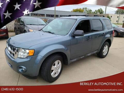 2010 Ford Escape for sale at Berkley Automotive Inc. in Berkley MI