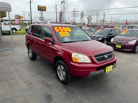 2003 Honda Pilot for sale at Texas 1 Auto Finance in Kemah TX