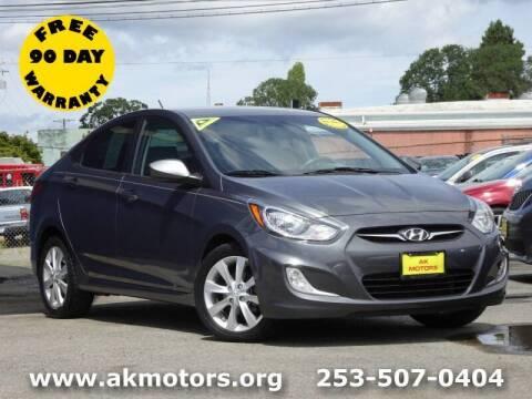 2013 Hyundai Accent for sale at AK Motors in Tacoma WA