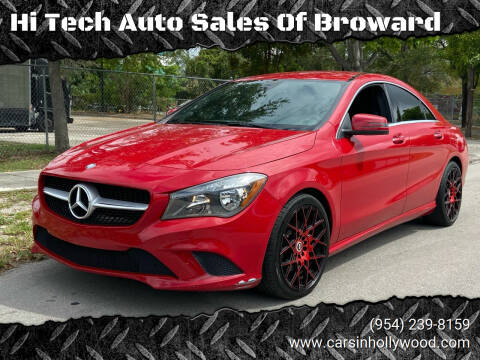 2015 Mercedes-Benz CLA for sale at Hi Tech Auto Sales Of Broward in Hollywood FL