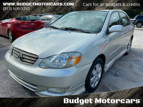 2004 Toyota Corolla for sale at Budget Motorcars in Tampa FL