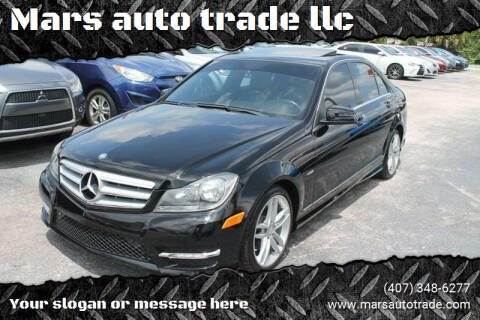 2012 Mercedes-Benz C-Class for sale at Mars auto trade llc in Kissimmee FL