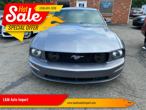 2007 Ford Mustang for sale at L&M Auto Import in Gastonia NC