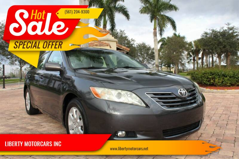 2008 Toyota Camry for sale at LIBERTY MOTORCARS INC in Royal Palm Beach FL