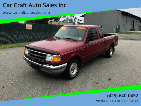 1993 Ford Ranger for sale at Car Craft Auto Sales Inc in Lynnwood WA