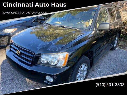 2003 Toyota Highlander for sale at Cincinnati Auto Haus in Cincinnati OH