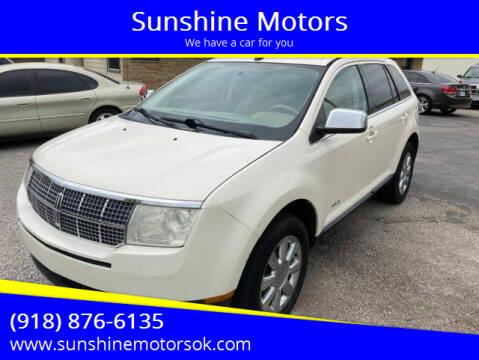 2007 Lincoln MKX for sale at Sunshine Motors in Bartlesville OK