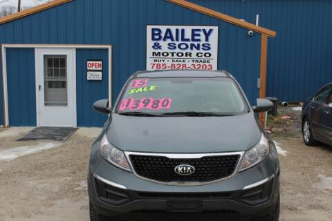 2015 Kia Sportage for sale at Bailey & Sons Motor Co in Lyndon KS