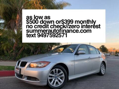 2007 BMW 3 Series for sale at SUMMER AUTO FINANCE in Costa Mesa CA
