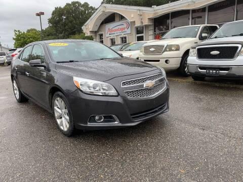 2013 Chevrolet Malibu for sale at Advantage Motors in Newport News VA