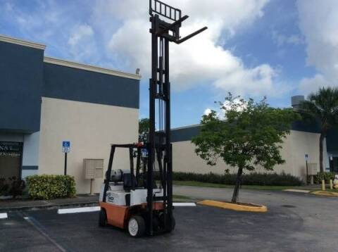 2000 NISSAN Forklift CPJ02A20PV for sale at Tropical Motors Cargo Vans and Car Sales Inc. in Pompano Beach FL