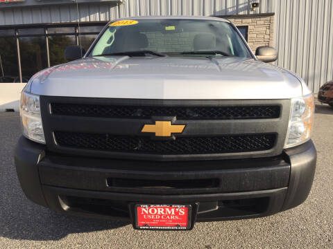 2013 Chevrolet Silverado 1500 for sale at Norm's Used Cars INC. in Wiscasset ME