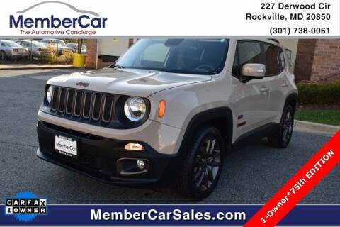 2016 Jeep Renegade for sale at MemberCar in Rockville MD