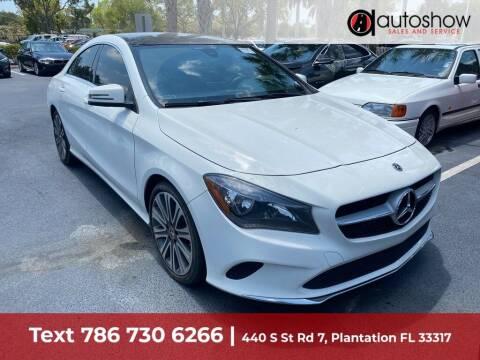 2018 Mercedes-Benz CLA for sale at AUTOSHOW SALES & SERVICE in Plantation FL