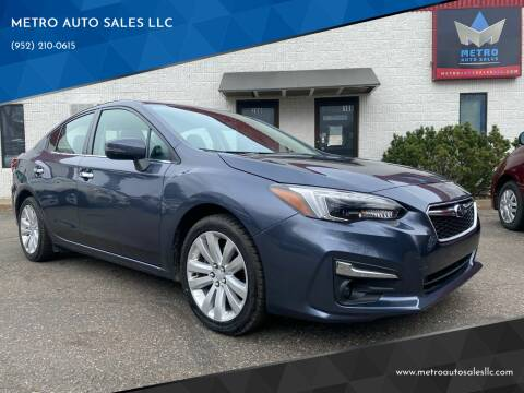 2017 Subaru Impreza for sale at METRO AUTO SALES LLC in Blaine MN
