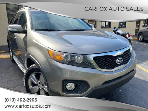 2012 Kia Sorento for sale at Carfox Auto Sales in Tampa FL
