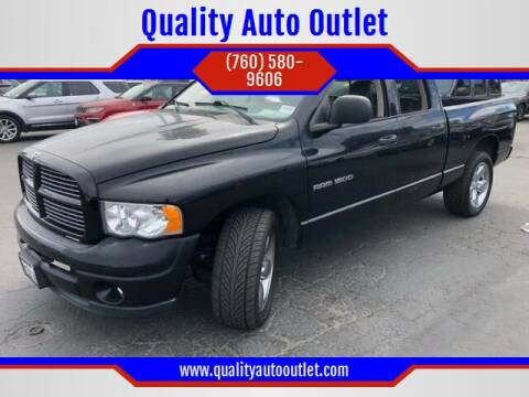 2003 Dodge Ram Pickup 1500 for sale at Quality Auto Outlet in Vista CA