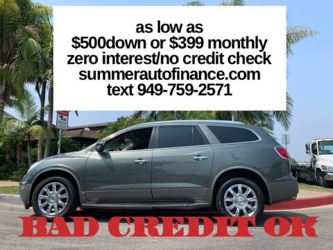 2011 Buick Enclave for sale at SUMMER AUTO FINANCE in Costa Mesa CA