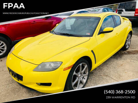 2004 Mazda RX-8 for sale at FPAA in Fredericksburg VA