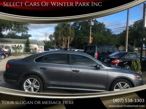 2013 Volkswagen Passat for sale at Select Cars Of Winter Park Inc in Orlando FL