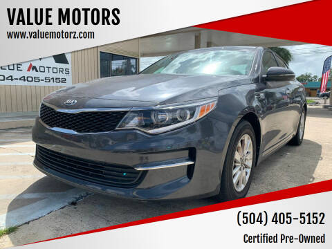 2017 Kia Optima for sale at VALUE MOTORS in Kenner LA