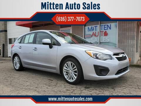2012 Subaru Impreza for sale at Mitten Auto Sales in Holland MI