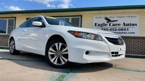 2012 Honda Accord for sale at Eagle Care Autos in Mcpherson KS