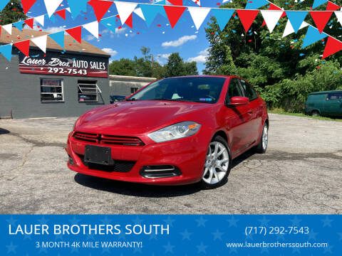 2013 Dodge Dart for sale at LAUER BROTHERS SOUTH in York PA