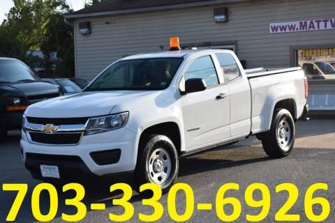 2018 Chevrolet Colorado for sale at MANASSAS AUTO TRUCK in Manassas VA
