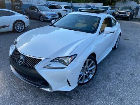 2015 Lexus RC 350 for sale at CHECK AUTO, INC. in Tampa FL