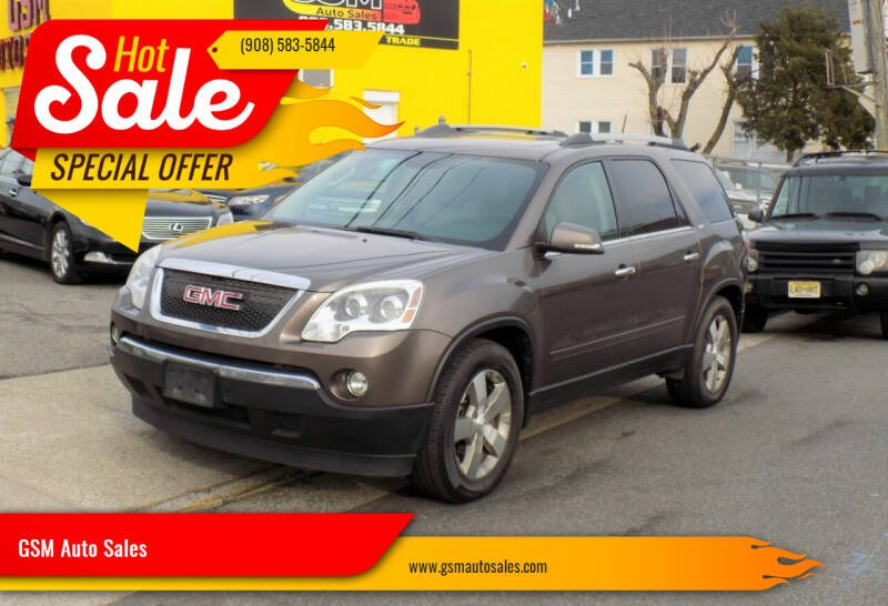 2011 GMC Acadia for sale at GSM Auto Sales in Linden NJ