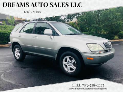 2001 Lexus RX 300 for sale at Dreams Auto Sales LLC in Leesburg VA