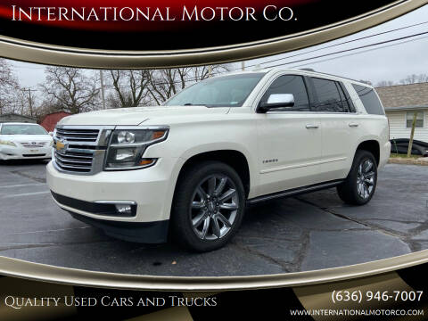 2015 Chevrolet Tahoe for sale at International Motor Co. in St. Charles MO