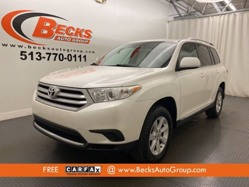 2013 Toyota Highlander for sale at Becks Auto Group in Mason OH
