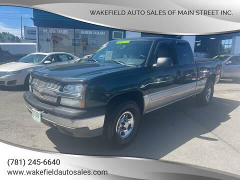 2004 Chevrolet Silverado 1500 for sale at Wakefield Auto Sales of Main Street Inc. in Wakefield MA