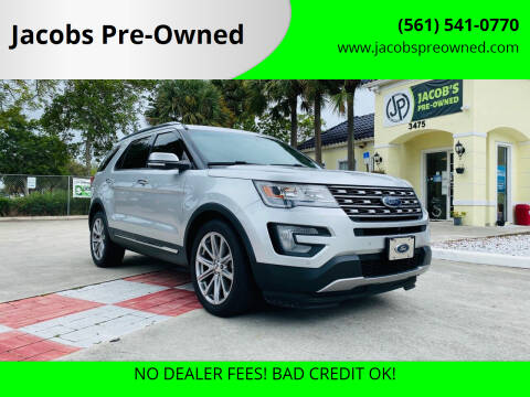 2016 Ford Explorer for sale at Jacobs Pre-Owned in Lake Worth FL