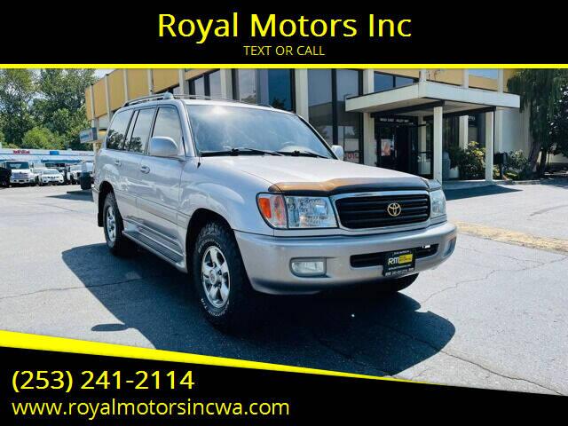 2002 Toyota Land Cruiser for sale at Royal Motors Inc in Kent WA