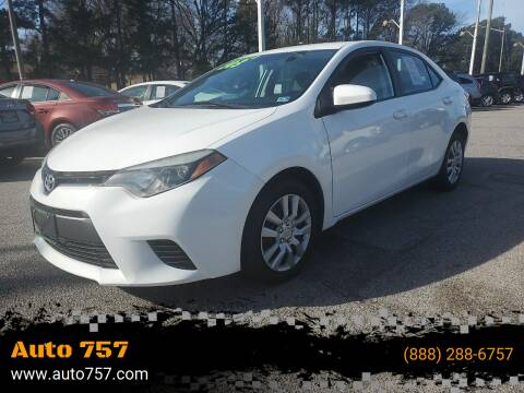 2015 Toyota Corolla for sale at Auto 757 in Norfolk VA