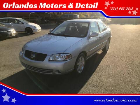 2006 Nissan Sentra for sale at Orlandos Motors & Detail in Winston Salem NC