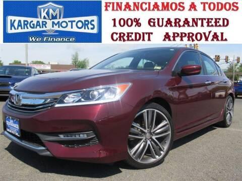 2017 Honda Accord for sale at Kargar Motors of Manassas in Manassas VA