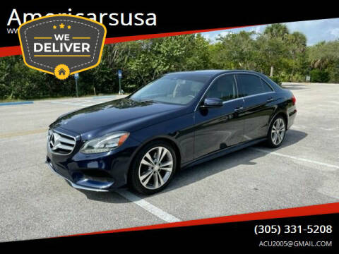 2014 Mercedes-Benz E-Class for sale at Americarsusa in Hollywood FL