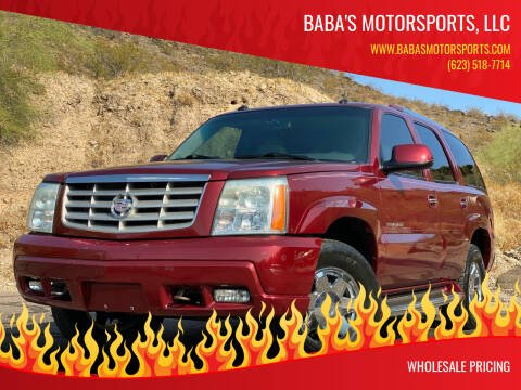 2003 Cadillac Escalade for sale at Baba's Motorsports, LLC in Phoenix AZ