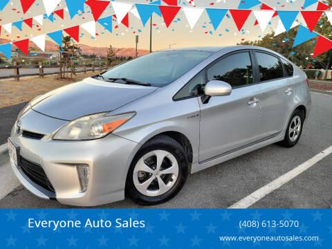 2012 Toyota Prius for sale at Everyone Auto Sales in Santa Clara CA