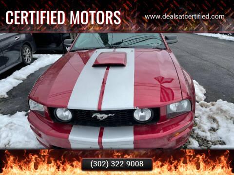 2007 Ford Mustang for sale at Certified Motors in Bear DE