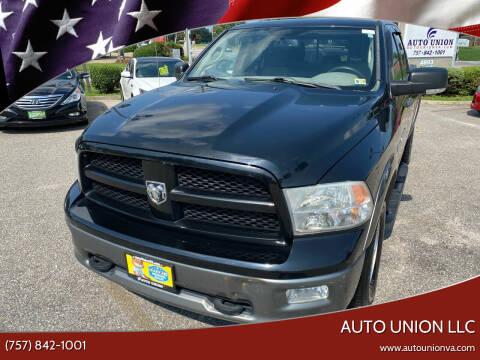 2012 RAM Ram Pickup 1500 for sale at Auto Union LLC in Virginia Beach VA