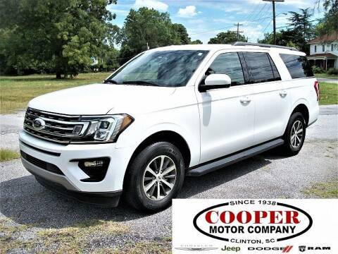 2019 Ford Expedition MAX for sale at Cooper Motor Company in Clinton SC