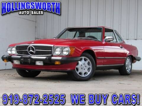 1987 Mercedes-Benz 560-Class for sale at Hollingsworth Auto Sales in Raleigh NC