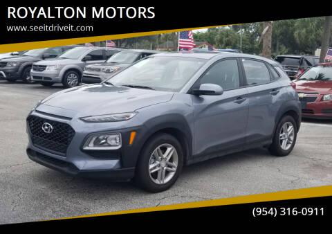 2020 Hyundai Kona for sale at ROYALTON MOTORS in Plantation FL